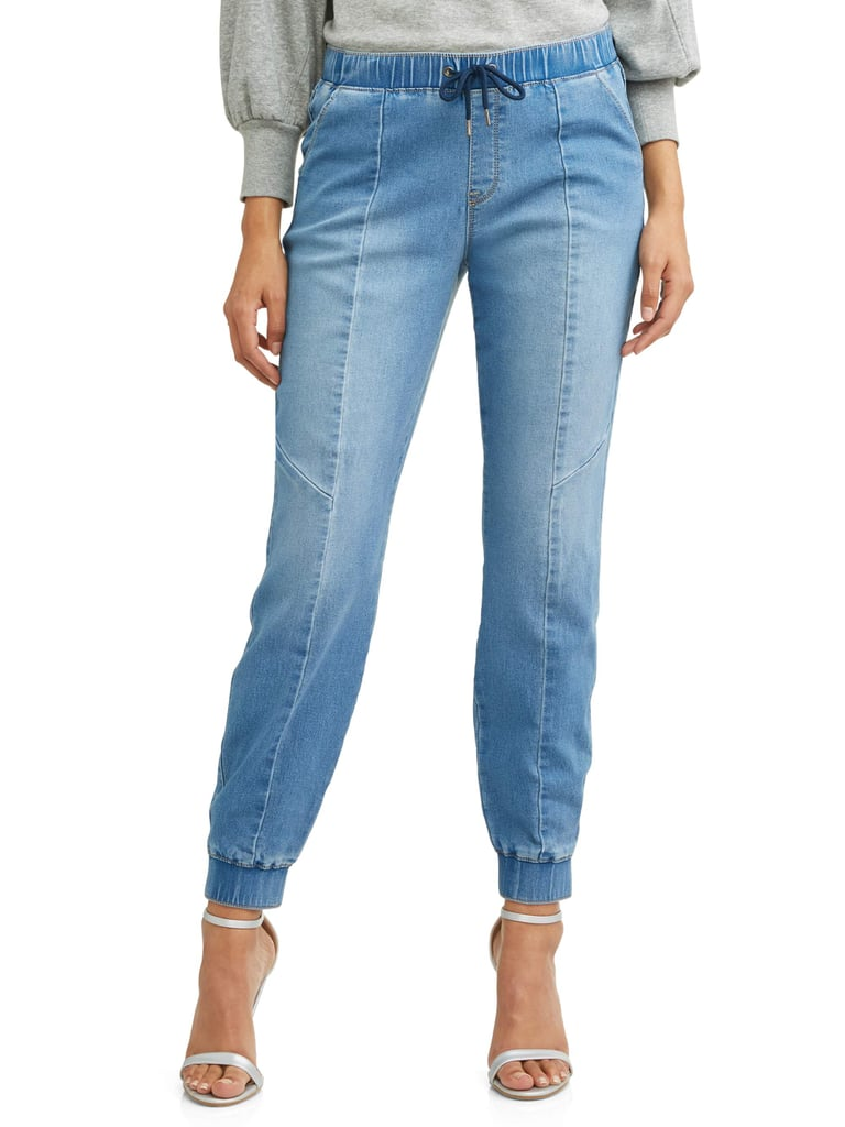 Paula Soft Stretch Knit Denim Jogger