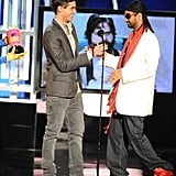 And laughed when Aziz Ansari accepted his award dressed like this.