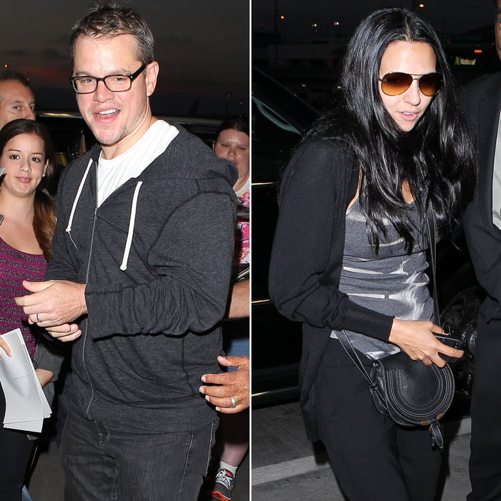 Fan Favorite Matt Damon Gets Greeted at LAX With Luciana