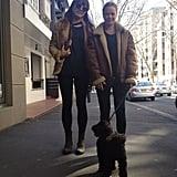 Lara Bingle and her friend went dog walking. Source: Instagram user mslbingle