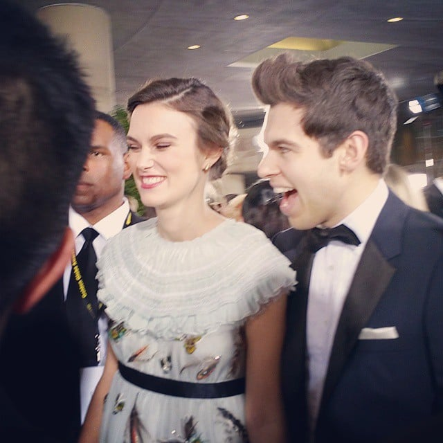 Keira Knightley and James Righton shared a laugh on the red