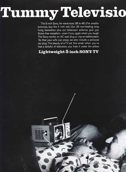 1965 Ad For the Tummy Television