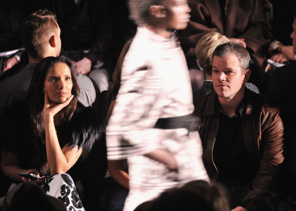 Padma Lakshmi and Matt Damon at Naeem Khan