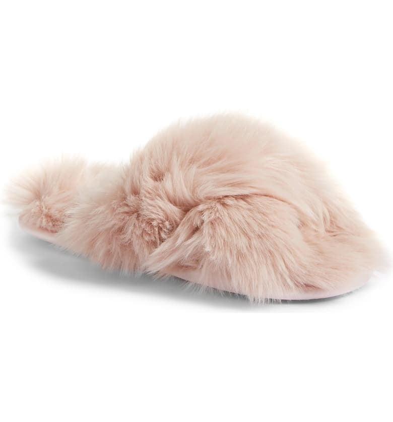 Aurora: Rachel Parcell Faux Fur Slippers