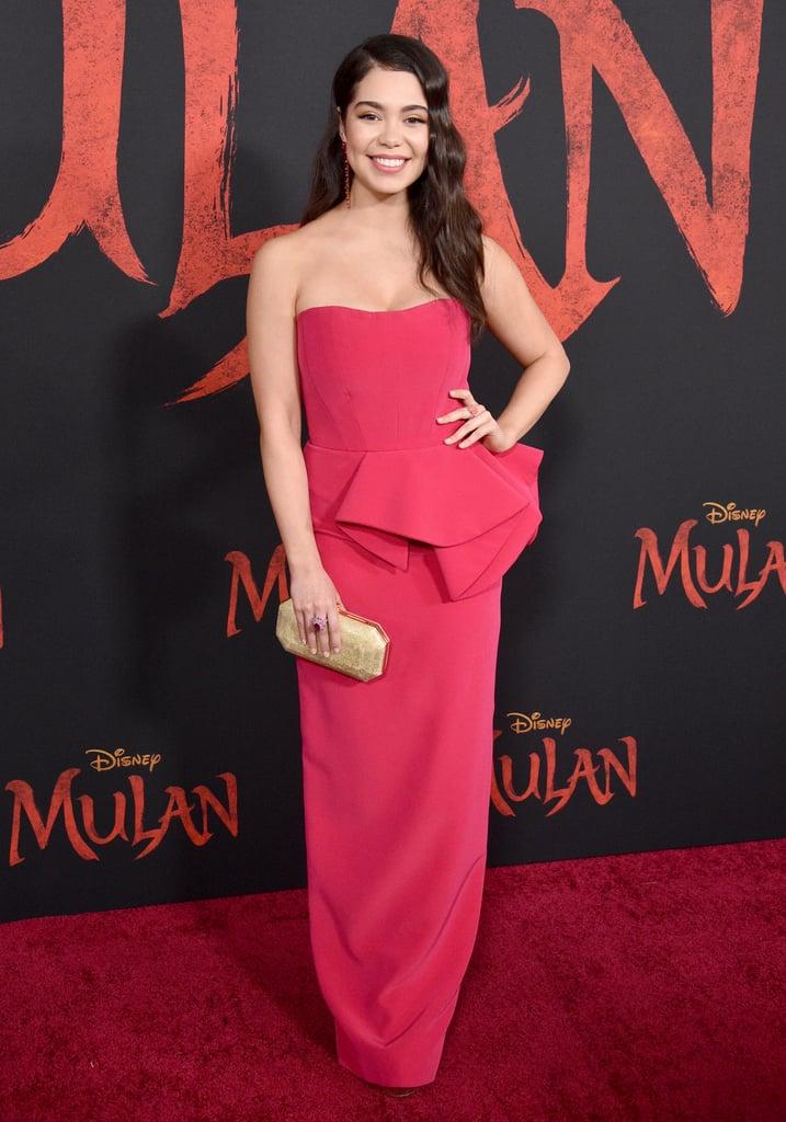 Auli'i Cravalho at the World Premiere of Mulan in LA