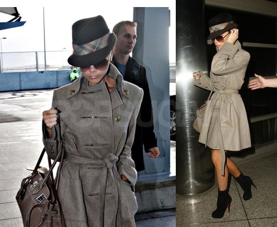 Photos of Victoria Beckham at Heathrow and LAX