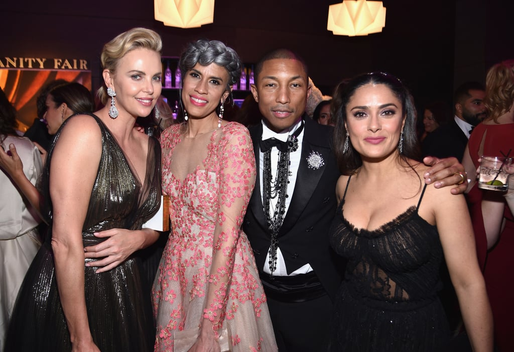 Pictured: Charlize Theron, Helen Lasichanh, Pharrell Williams, and Salma Hayek
