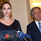 Angelina Jolie spoke at the event.