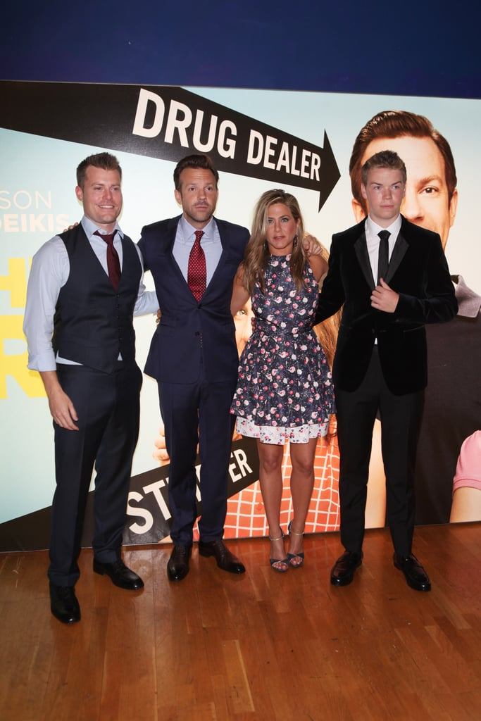 Jason Sudeikis and Jennifer Aniston posed with their We're the Millers co-stars Will Poulter and Rawson Marshall at the film's London premiere.