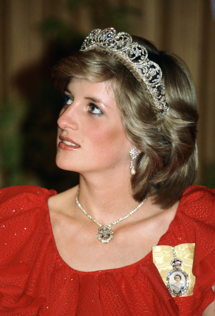 The Spencer Family Tiara Prince Of Wales Feather Pendant