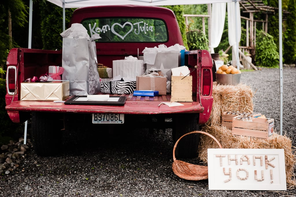 Depart your wedding with all your gifts in tow.