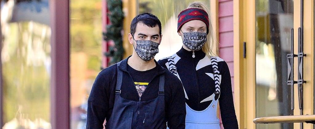 Sophie Turner and Joe Jonas Wore Matching Masks While Skiing