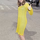 Scarlett gave a sweet thumbs-up at the Independent Spirit Awards in 1997.
