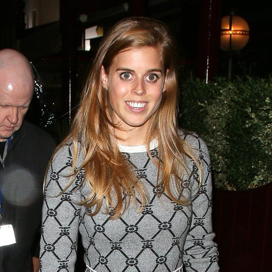 Princess Beatrice in Black Heels at London Fashion Week 2016