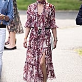 Olivia put one of her own designs on display — a piece from her collaboration with Nordstrom's Chelsea28 line —at the 2016 Veuve Clicquot Polo Classic.
