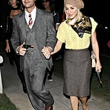 Ryan Seacrest and Julianne Hough went to an LA bash on Friday as Bonnie and Clyde.