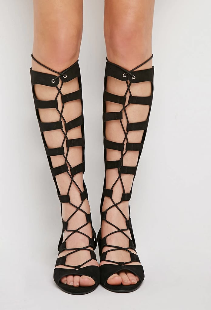 372547bdd06d Forever 21 Lace-Up Gladiator Wedge Sandals ( 40)