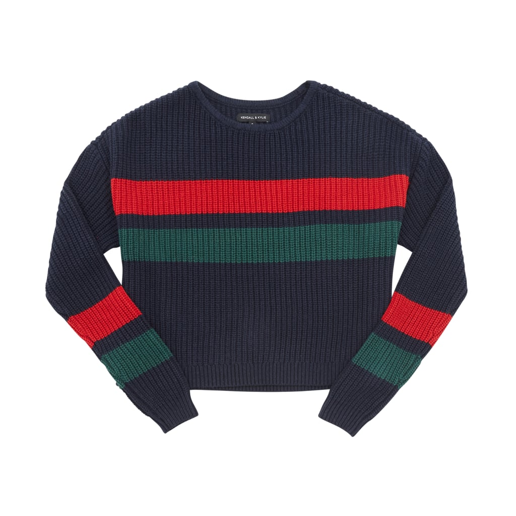 Navy Colorblocked Sweater