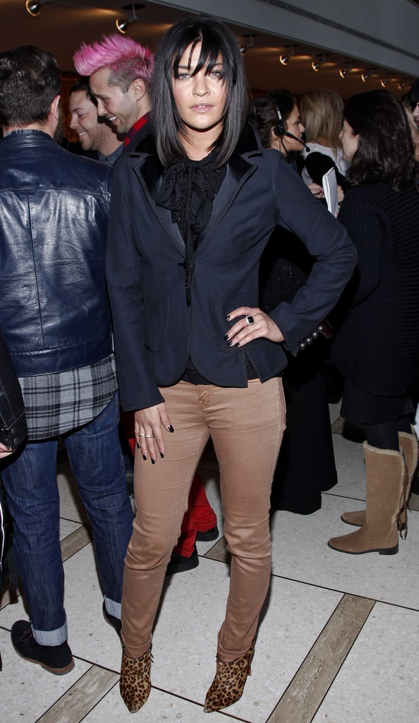 Jessica Szhor styled up a blazer and khakis for Chris Benz.