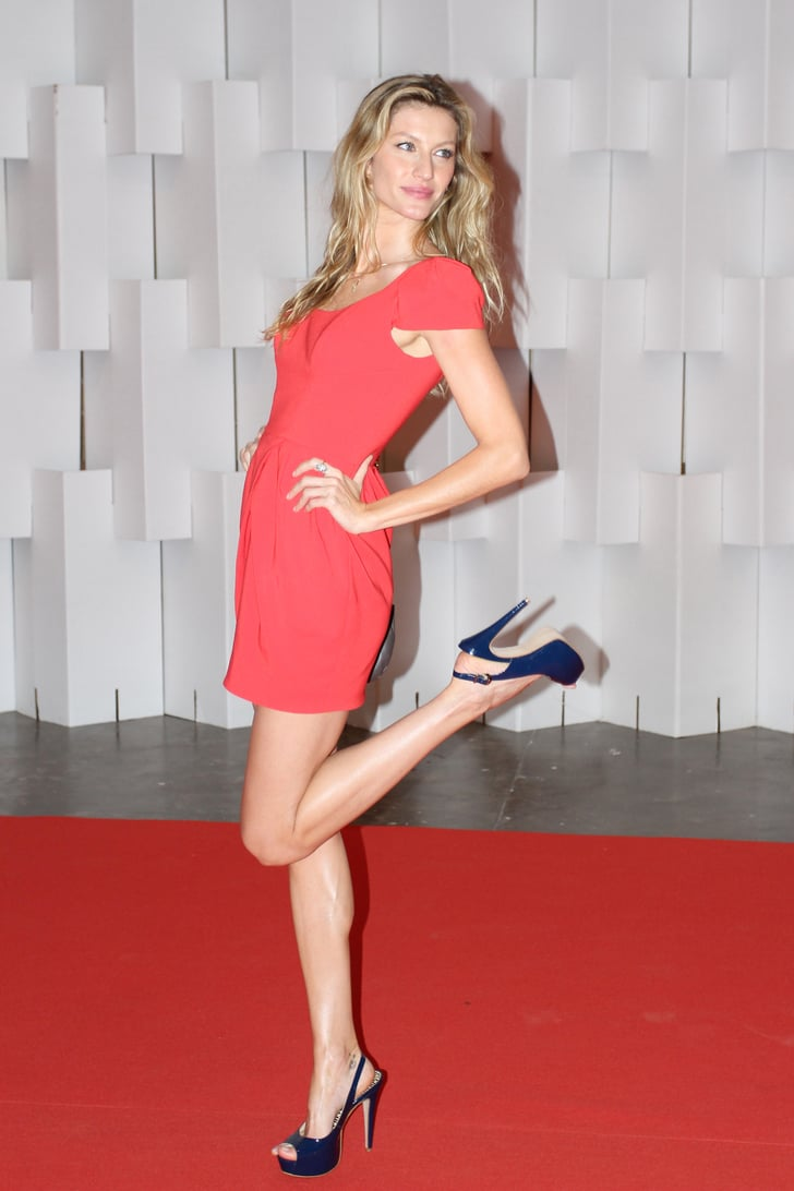 Pictures of Gisele Bundchen at Sao Paolo Fashion Week in Brazil