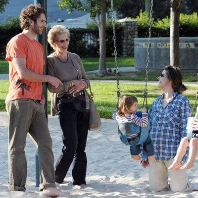 Amanda Peet at an LA Park With Husband David Benioff and Daughter Frances Pen Benioff