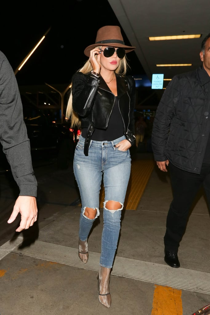 Wear Your Distressed Jeans With a Cropped Moto Jacket