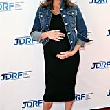 Tiffani Thiessen and her growing baby bump hit the red carpet at a Cinderella screening benefitting JDRF in LA on Sunday.