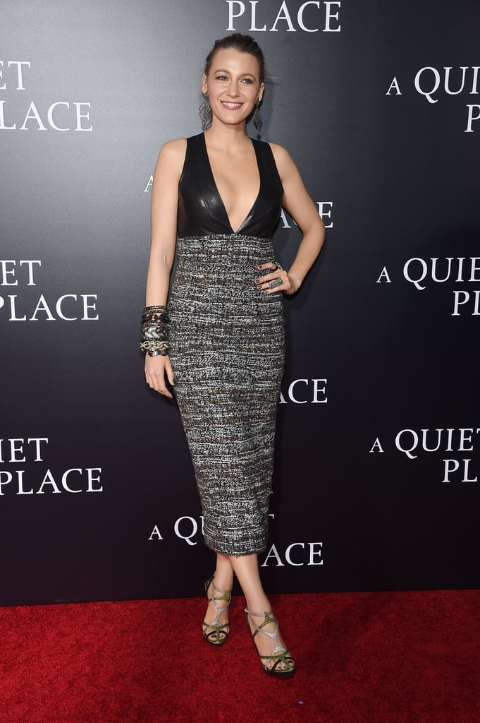 Blake Lively Chanel Dress at A Quiet Place New York Premiere