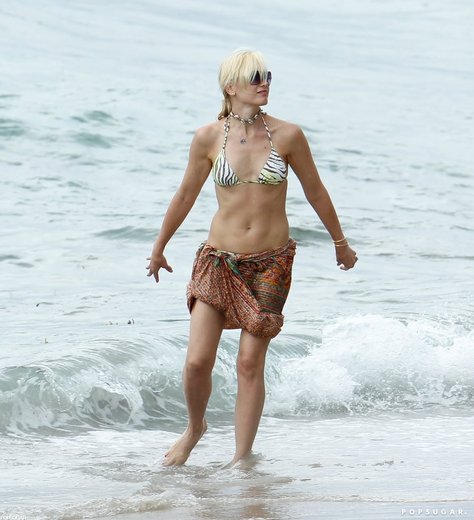 Gwen Stefani showed off her rocking beach body while on vacation with her family in Miami.
