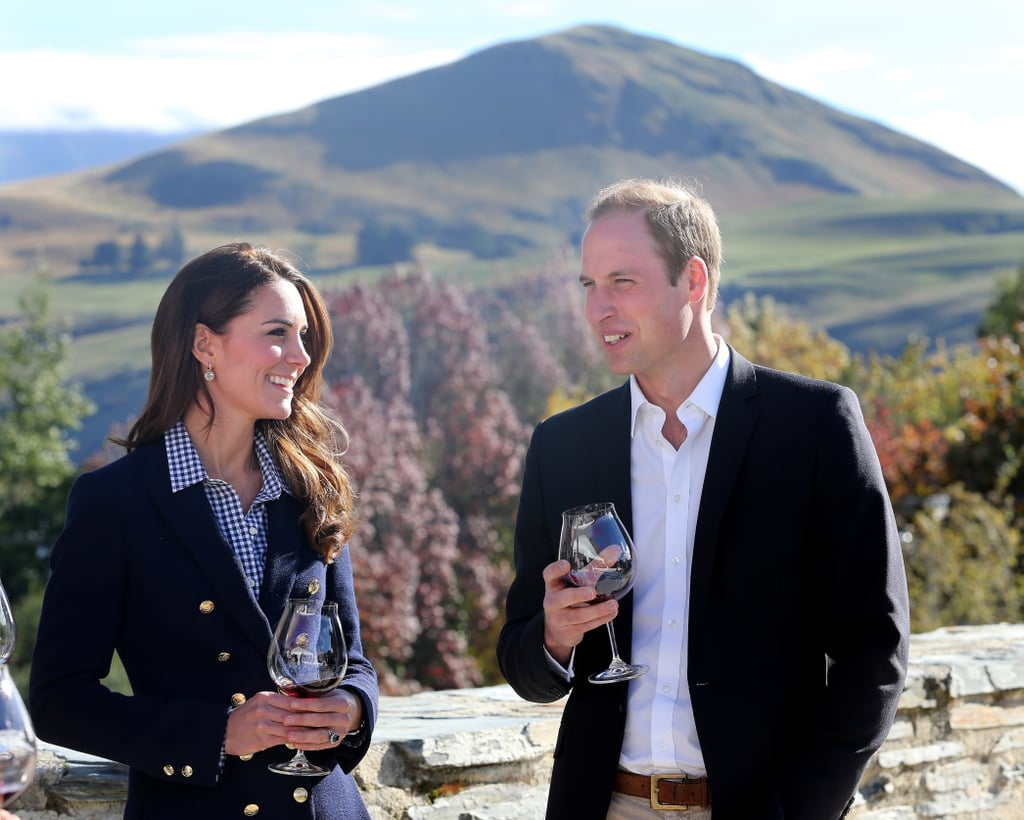 Kate and Prince William were picture-perfect when they sampled red wine during a visit to the Amisfield winery in Queenstown, New Zealand, in April 2014.