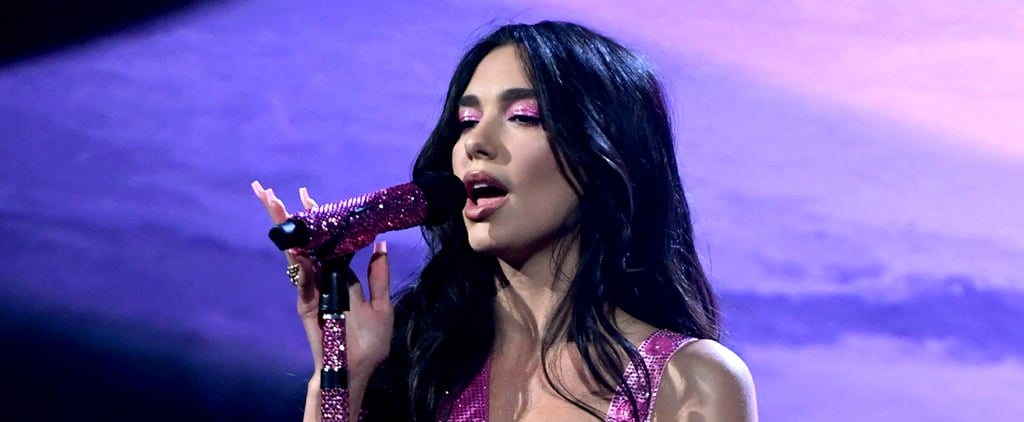 Dua Lipa's Versace Performance Outfits at the 2021 Grammys