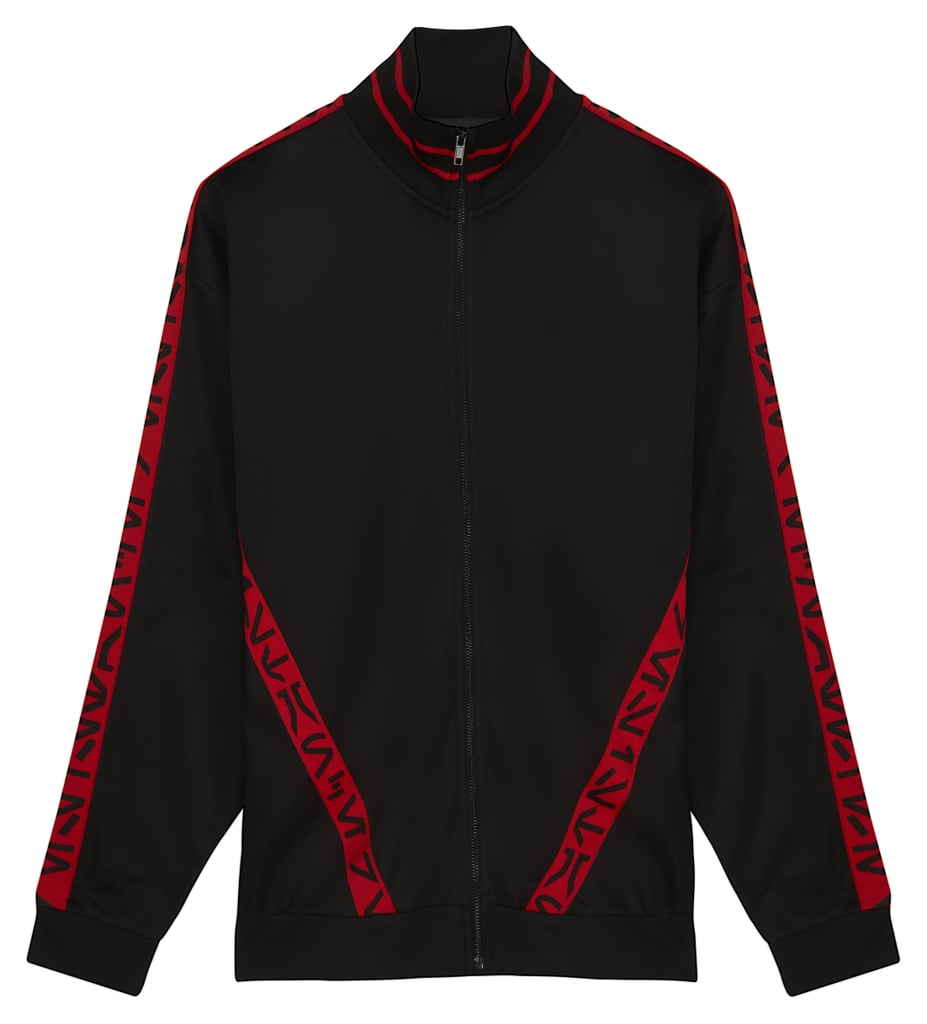 ASOS x Star Wars Oversized Poly Tricot Track Jacket With Printed Tape