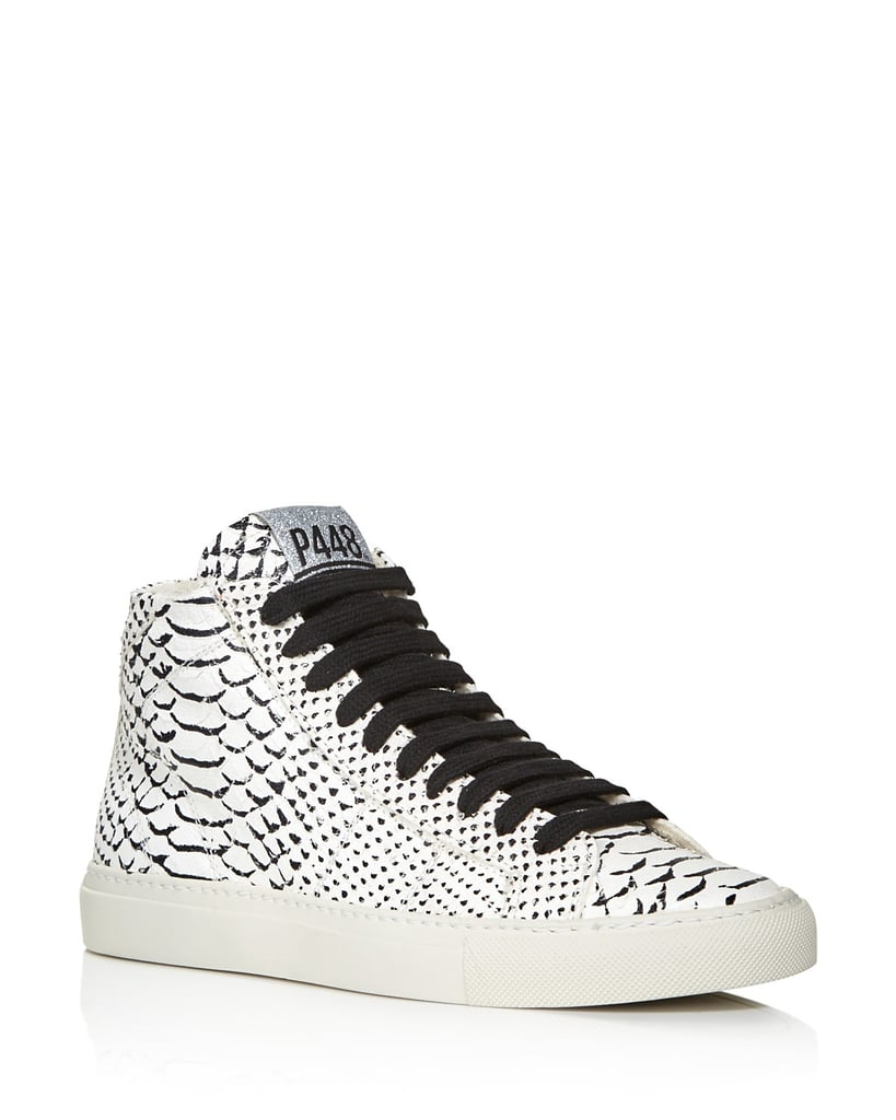 P448 Women's Star Snake-Embossed High-Top Sneakers