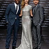 Rosie Huntington-Whiteley, Shia LaBeouf, and Tyrese Gibson promoting Transformers in Berlin.