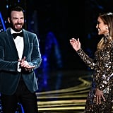 Whatever They Were Talking About, It Sure Made Chris and J Lo Laugh a Lot