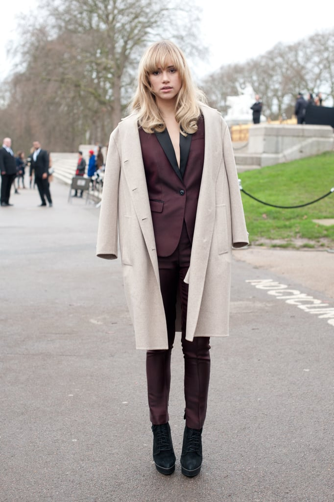 Suki Waterhouse is just another example of why it's all about the suit.