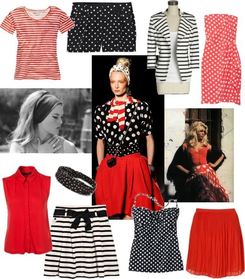 Trend Alert: Polka Dots Mixed With Stripes Inspired by Moschino Spring