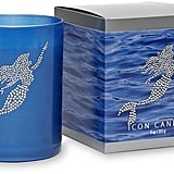 Mermaid Blue Glass Icon Candle ($33)