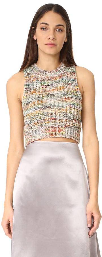 Acne Studios Zelia Multi Sleeveless Crop Sweater