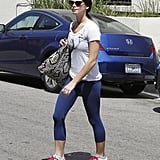 Ashley Greene stepped out in spandex pants.