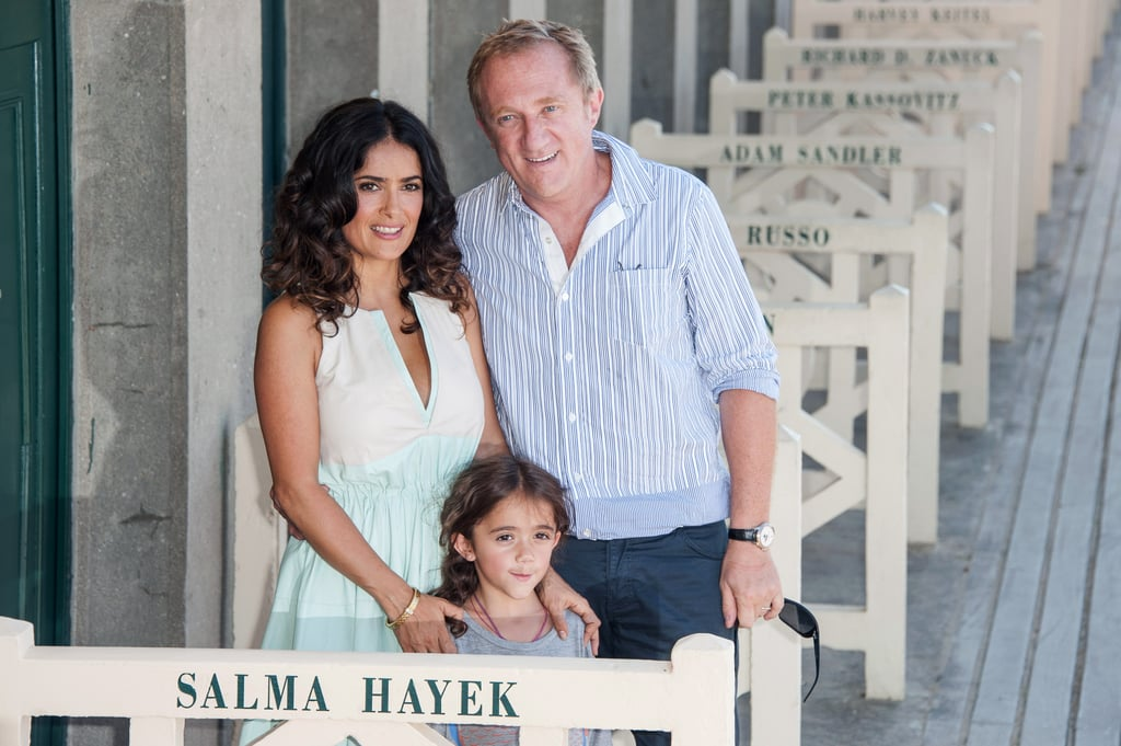 Salma Hayek, her daughter, Valentina Pinault, and her husband, François-Henri Pinault, unveiled a beach closet dedicated to Salma on the Promenade des Planches during the 38th Deauville American Film Festival.