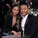 Chrissy Teigen and John Legend at the 2017 SAG Awards