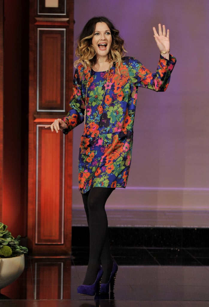 Drew Barrymore arrived at the studios of The Tonight Show.