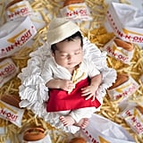 Newborn Photo Shoot With In-N-Out Burgers and Fries