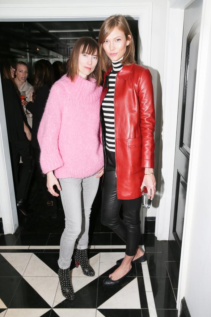 Anya Ziourova and Karlie Kloss