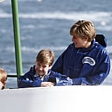 Prince Harry and Prince William visited Niagara Falls with their mom, the late Princess Diana, in October 1991.