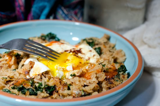 Turnip and Kale Hash with Eggs