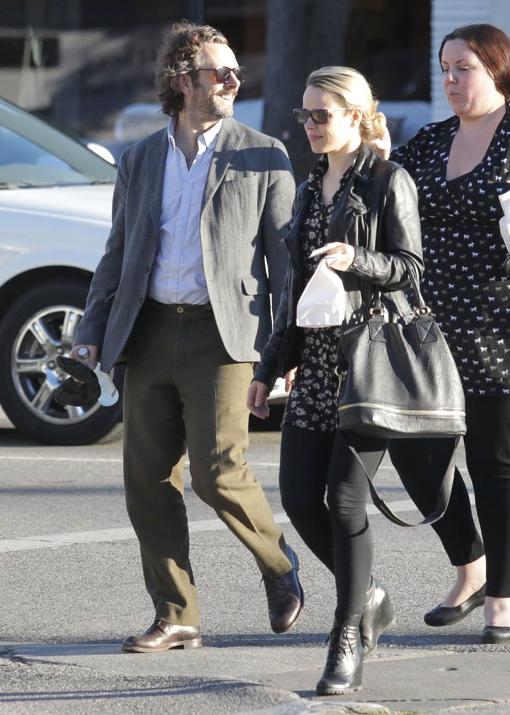 Michael Sheen and Rachel McAdams stepped out in Studio City yesterday for lunch. They broke out their Fall finest for the first chilly weekend in LA. Their downtime together came just ahead of a big night for Michael— Breaking Dawn Part 2, the final installment in the Twilight franchise, will premiere at the Nokia Theatre later today.  Twilight fans started camping outside the theater days ago in anticipation of seeing Michael, Robert Pattinson, Kristen Stewart, and their costars. The studio behind the series has provided water, snacks, and even a screening of the first four Twilight movies for the fans. Also, live music performances from artists like Christina Perri, Nikki Reed, and Paul McDonald, who are all featured on the Breaking Dawn Part 2 soundtrack were organized. Kristen, Robert, Taylor Lautner, and the entire Breaking Dawn Part 2 cast are expected on the red carpet later —and you can see how the Twilight series ends when the film hits theaters on Nov. 16.