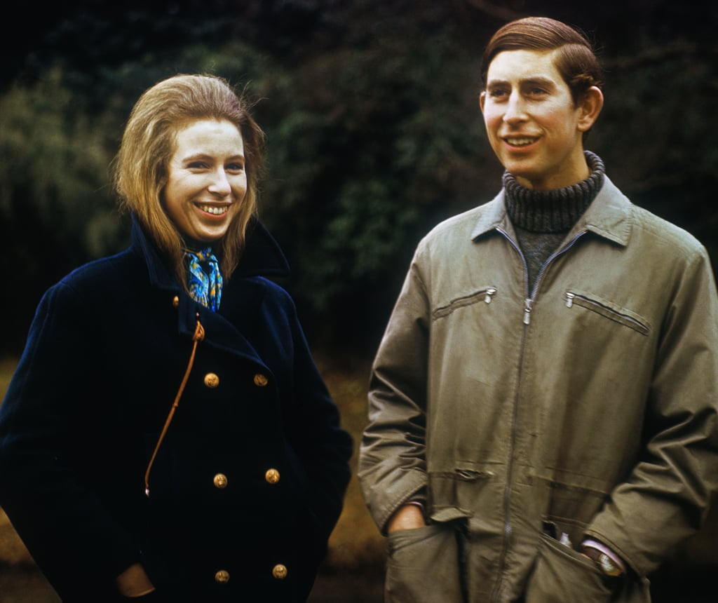 Princess Anne and Brother Prince Charles at Sandringham in 1970
