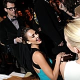 Brad Goreski took his seat in the front row close to Jessica Alba and Amber Heard.